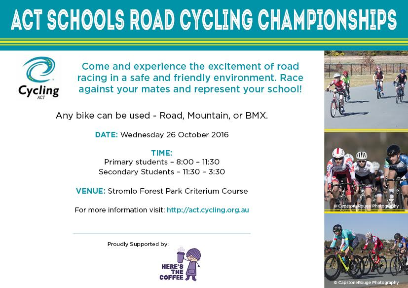 ACT Schools Champs 2016 Flyer