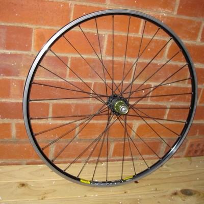 Wheels: Hope hubs and mavic open pro rims