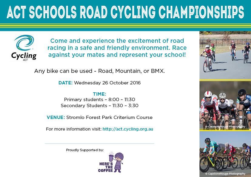 ACT Schools Champs 2016 Flyer