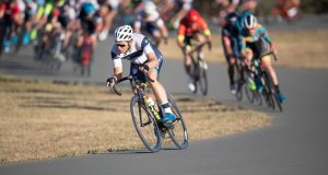 CCC Crit riders on collarbone corner