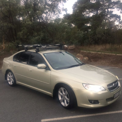 2008 Subaru Liberty with Thule bike racks for sale