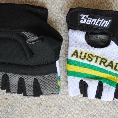 Santini Australian National Team Cycling Gloves Size Small