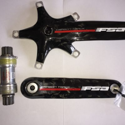 Bicycle FSA Carbon Fibre Crankset 165mm + Bottom Bracket