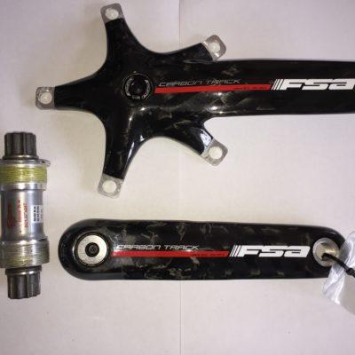 Bicycle FSA Carbon Fibre Crankset 165mm + Bottom Bracket